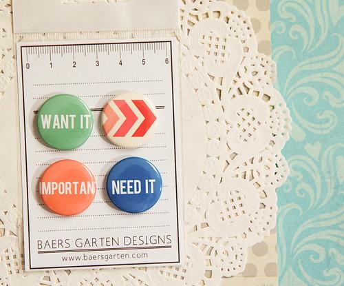 Badge / Adhesive buttonswnat it / need it