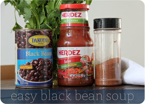easy blackbean soup
