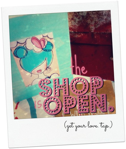 the SHOP is open