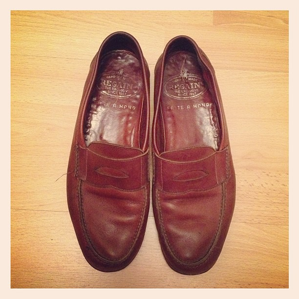 My £1 leather loafers from the charity shop.