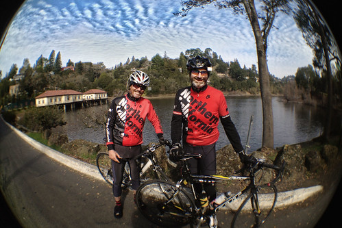 Curtis and Dan at Orinda Lake