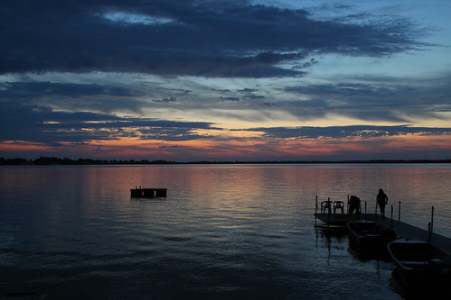 blue sunset summer lake ontario canada water silhouette night canon eos cloudy bluesky lakeontario sandbanks 50d