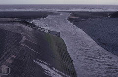 Mouth of River Thaw, view from bridge at high water mark, October 1982