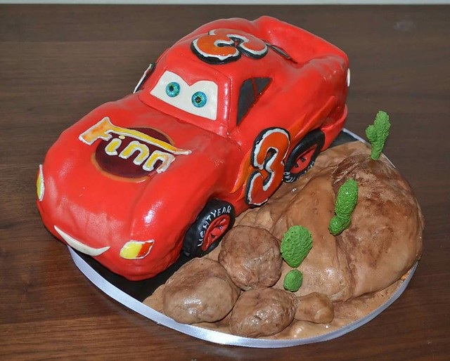 Lightening Mcqueen Cake by Irina Kramorenko of IrinaK
