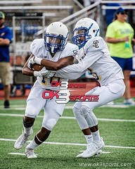 Nice handoff!!! Clemens vs Madison Scrimmage #gobuffs #mavs #ok3sports #nikonphotography #sportsphotography