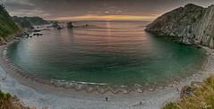Ocaso en la Playa del Silencio (Panoramica de dos fotos horizontales)