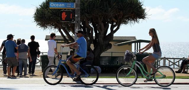Riding Bicycles - Santa Monica, California, USA