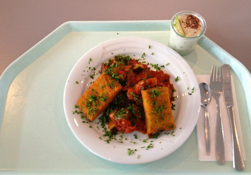 Polentaschnitte mit Ratatouillegemüse / Polenta Slice with ratatouille