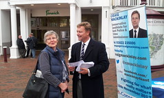 11/10/12 Early start Tunbridge Wells meeting morning shoppers (in the drizzle!)