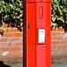 Small photo of An early pillar box, Framlingham Suffolk