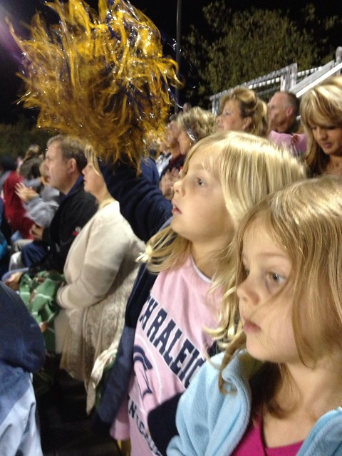 At their first high school football game