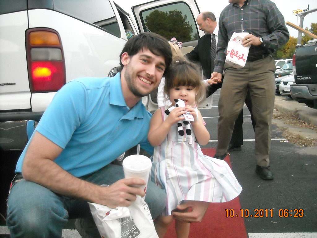 Daddy-Daughter Date Night at Chick Fil A- get with a local beauty ...