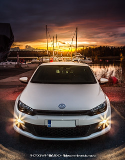 Scirocco with setting sun