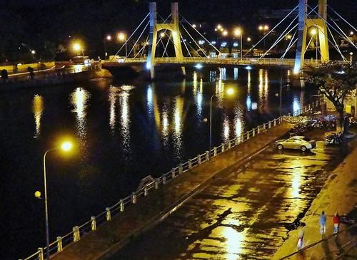 Night View of Ca Ty River Bridge, Phan Thiet, Vietnam - Thanh D. Nguyen, 2012