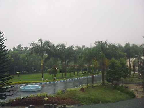 Rain captured from Amrita School of Business