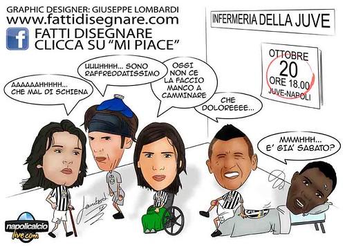 Caricatura Vidal Asamoah Caceres Buffon Pirlo by Giuseppe Lombardi