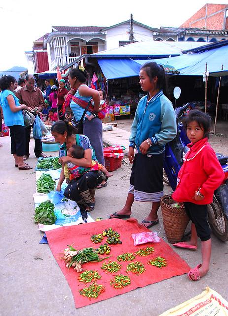 寮國傳統市集