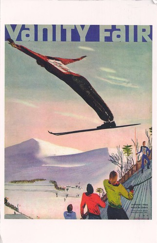 Vanity Fair Cover Skiing Lake Placid 1936