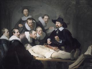 """""""Lección de anatomía del Dr. Nicolaes Tulp"""", de Rembrandt."""