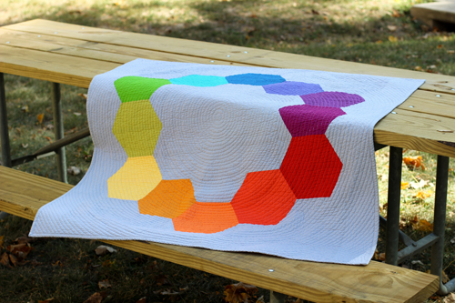 Color Hex Quilt by Jeni Baker