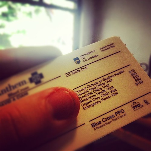 Got my snazzy new health insurance card. It has UC's new logo on it!