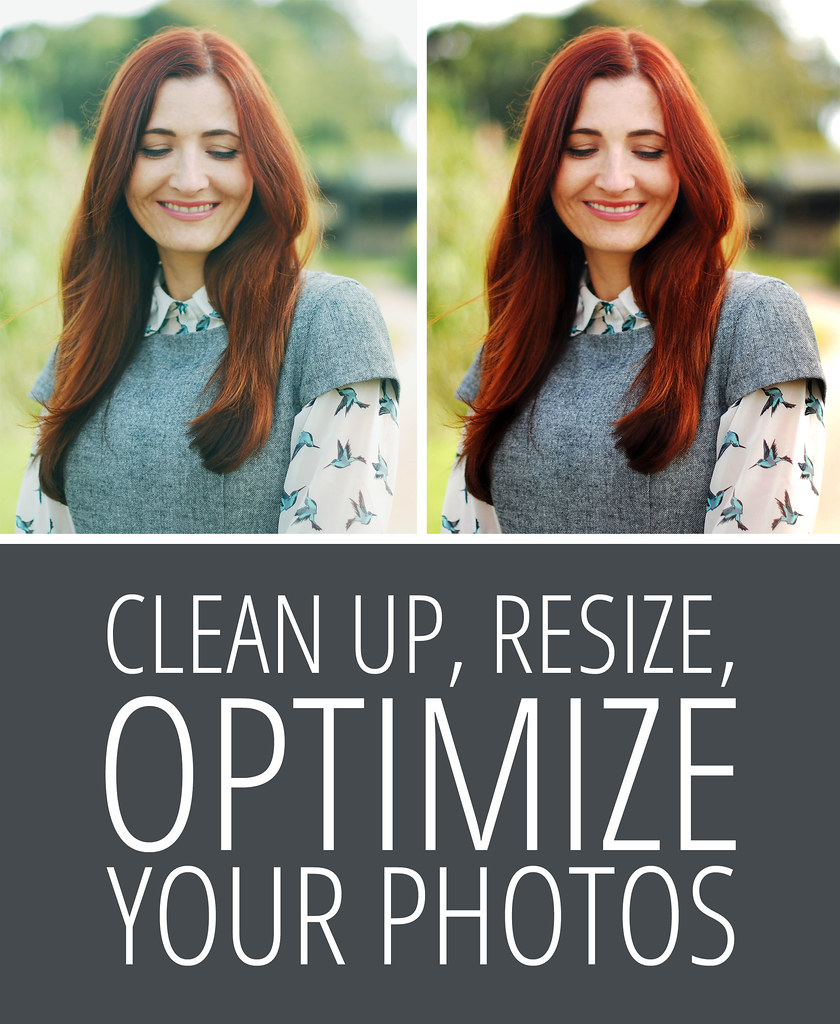 Clean Up, Resize, Optimize Your Photos