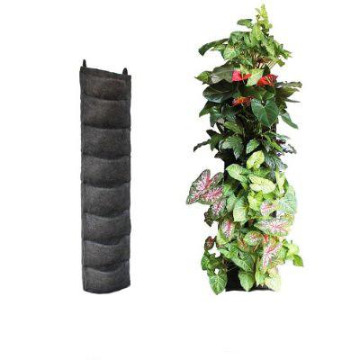 Felt vertical garden kit 8 pocket living wall green field for Vertical wall garden kits