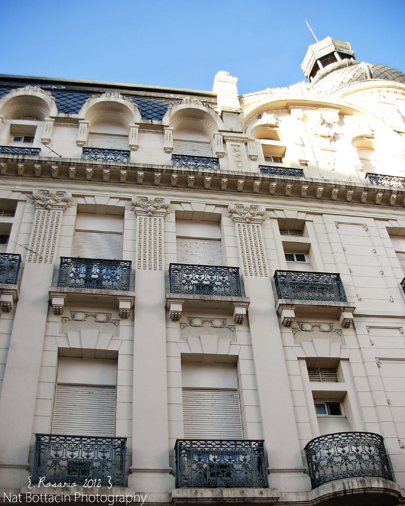 Palace Hotel windows and balconies