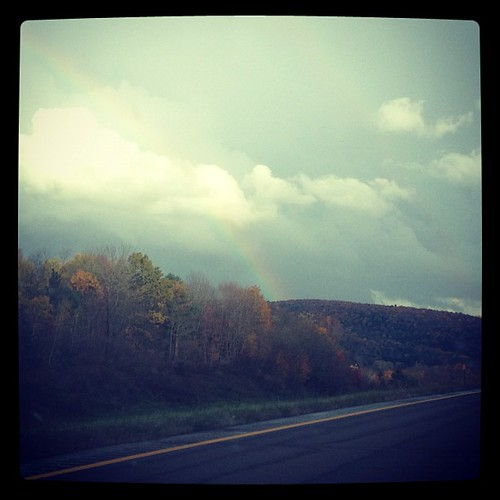 Rainbow. This is such a ridiculously gorgeous drive.