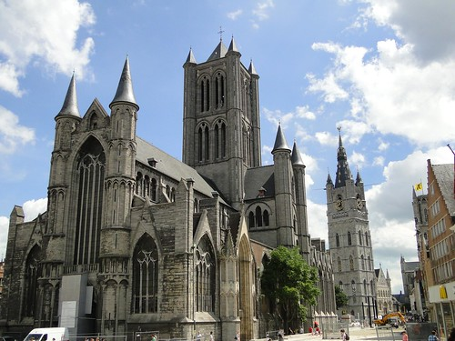 St Nicholas church, Ghent exterior
