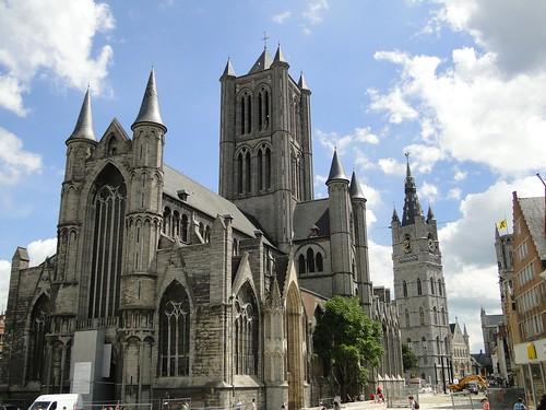St Nicholas church, Ghent exterior