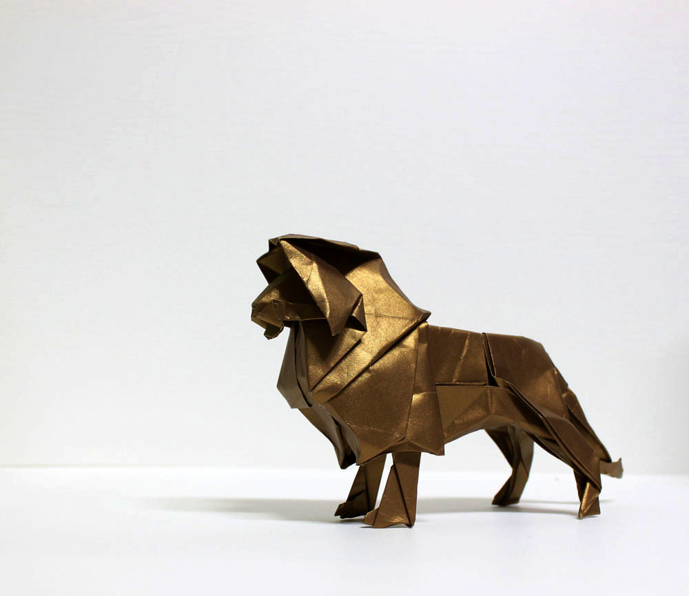 Have paper will travel origami aslan lion king by won seon seo jeuxipadfo Gallery