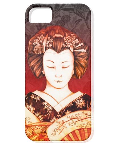 IPhone 5 Funda Geisha Ojos cerrados