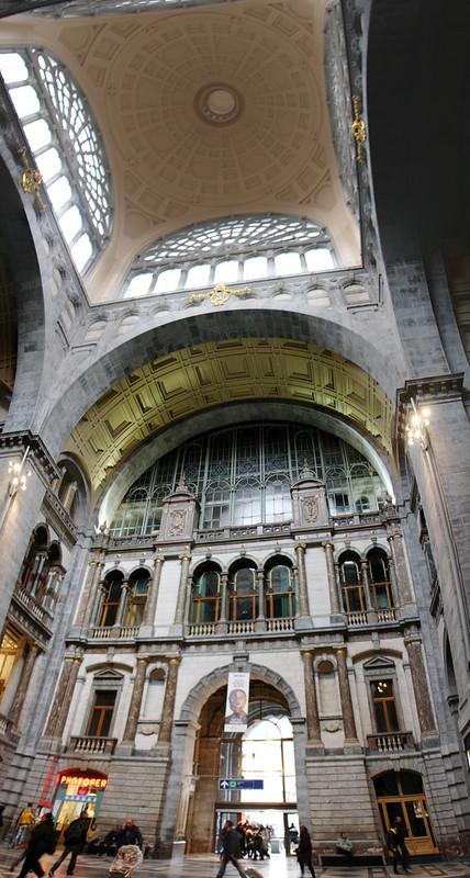 Antwerp Train Station Panorama