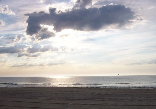 clouds at Jersey shore, sunrise