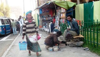 A Random Addis Sidewalk Scene