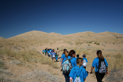 Baker - Students Hiking Kelso Dunes