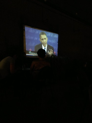 8:36pm watching the 3rd presidential debate at The Royale w/ Tara and Zoë by marshallhaas