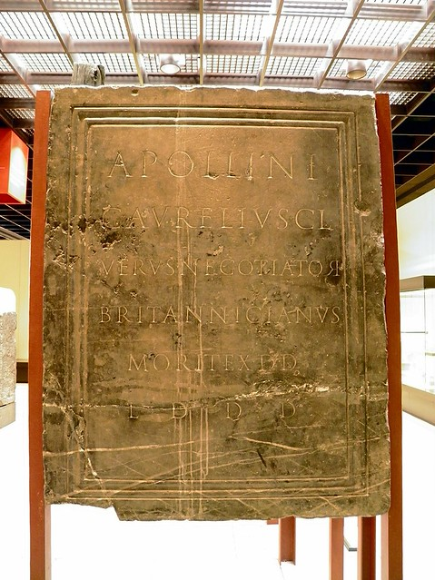 Funerary inscription to the god Apollo from a freed slave who traded with Britannia, Romisch-Germanisches Museum, Cologne