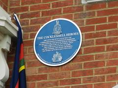 Photo of Herbert Hasler and John Mackinnon blue plaque