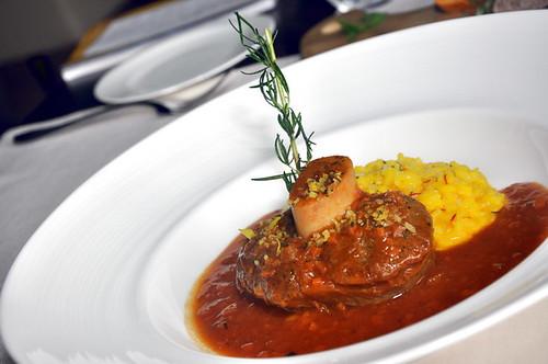 Senja MIGF veal ossobuco Milanese Style saffron risotto sicilian gremolata