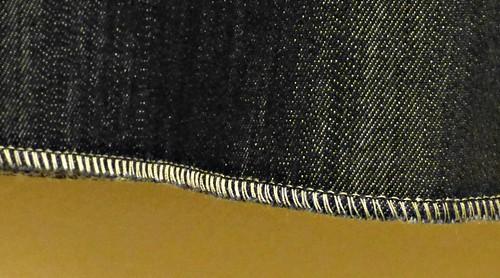 a-line skirt serged hem