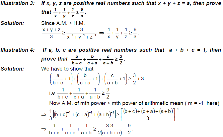 Inequalities in Means Examples