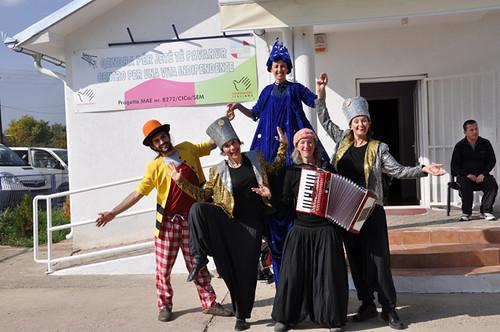 Animazione al centro per disabili Mitovirica Kosovo