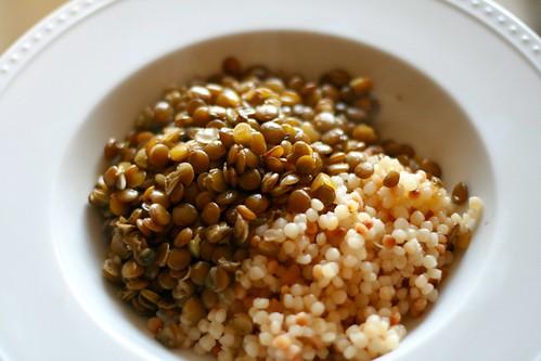lentils and couscous