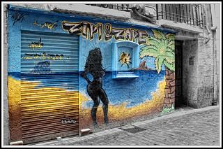 Graffitis en Zaragoza-Calle de Contamina