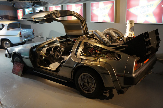 Back to the future DeLorean on show