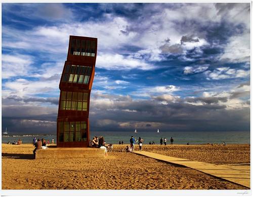 barcelona sea sky clouds laplaya memfoto magicmomentsinyourlifelevel1