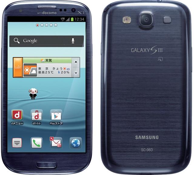 Galaxy S III SC-06D 実物大の製品画像