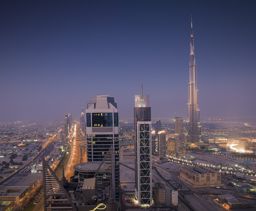 Dubai - Burj Khalifa and Sheikh Zayed Road View